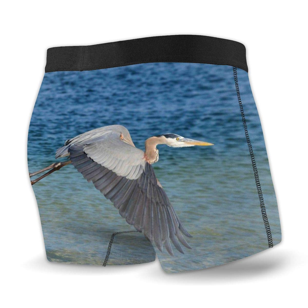 Great Blue Heron in St Andrews ST Park Boxer Briefs Trunks Underwear Seamless Short Leg Underpants
