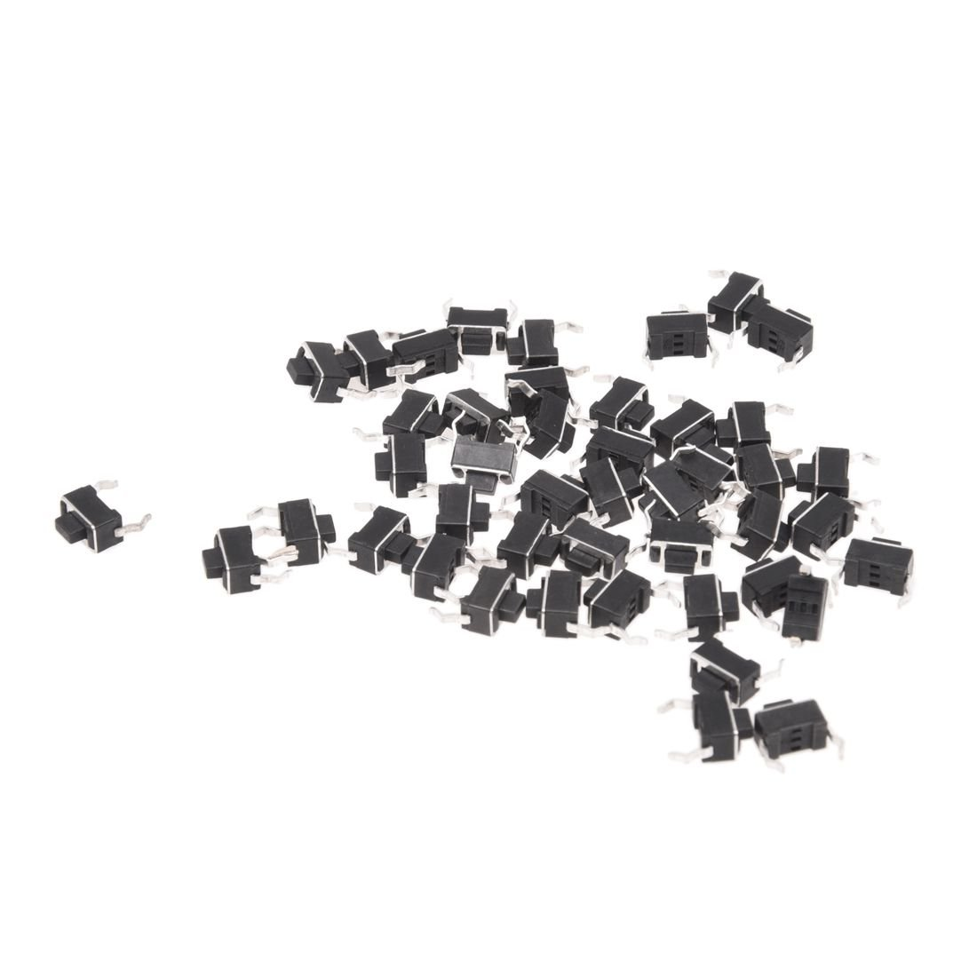 TOOGOO(R) 44 Pcs 6x3.5x5mm 2 Pins Momentary DIP Tactile Tact Push Button Switch