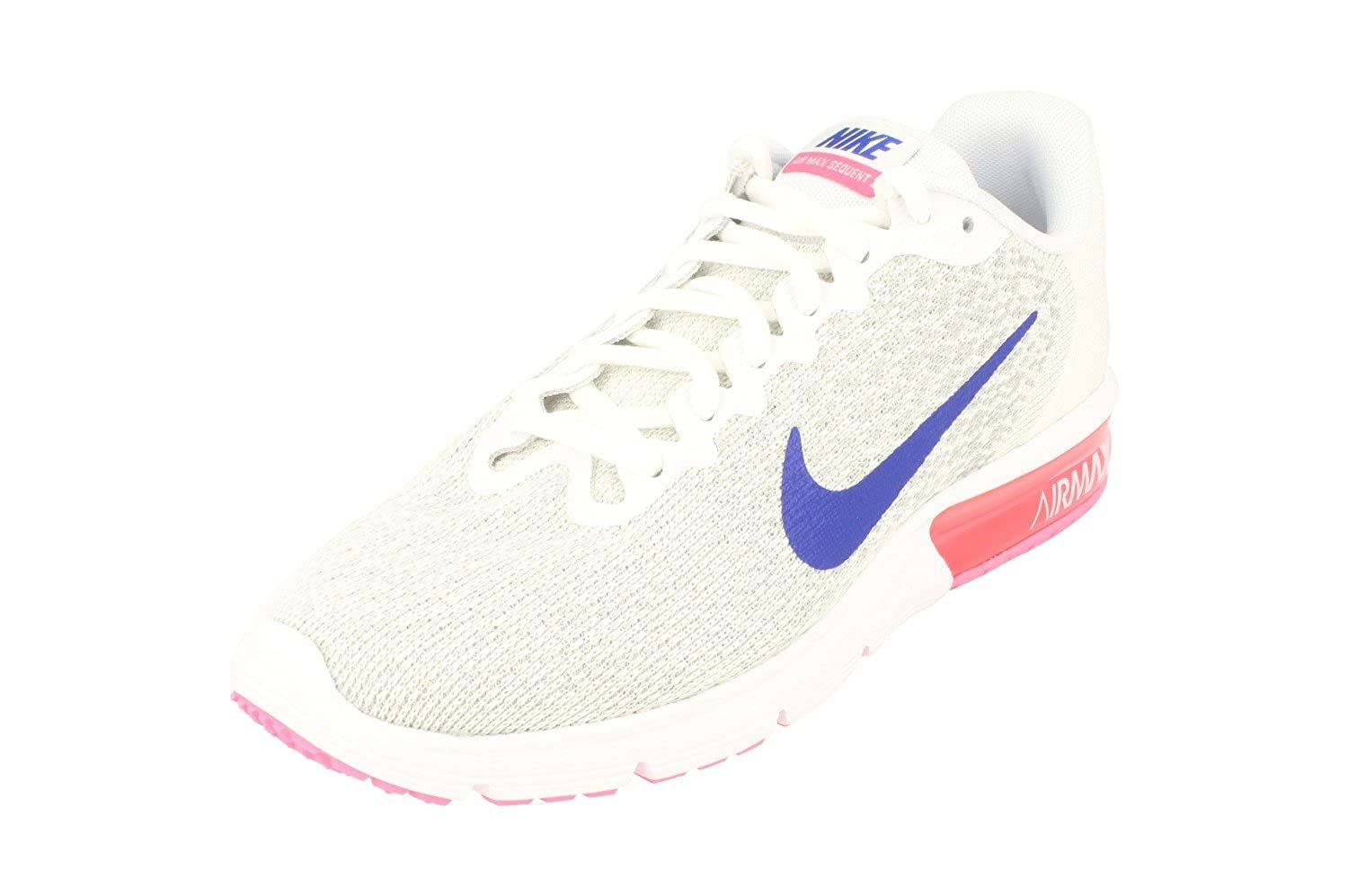 a24dda340b Amazon.com | NIKE Womens Air Max Sequent 2 Running Trainers 852465 Sneakers  Shoes (UK 3.5 US 6 EU 36.5, White Concord Laser Pink 146) | Road Running