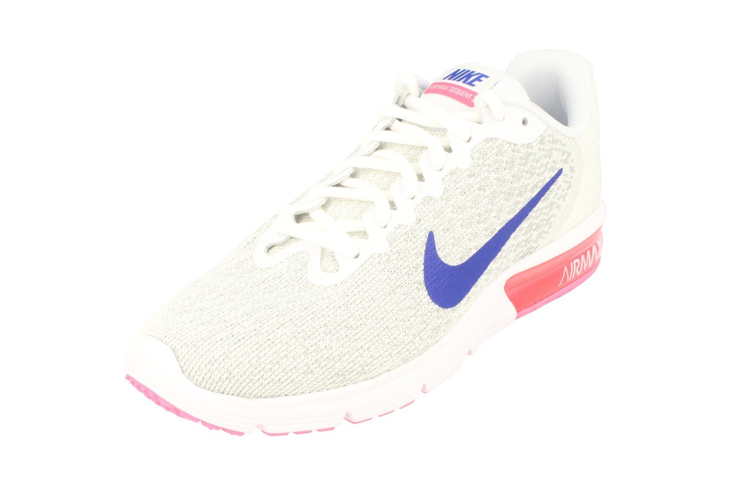 0c1523ed2d Galleon - Nike Womens Air Max Sequent 2 Running Trainers 852465 Sneakers  Shoes (UK 6 Us 8.5 EU 40, White Concord Laser Pink 146)