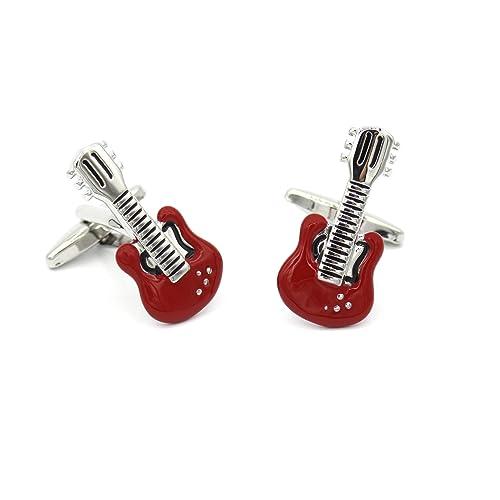 Territorial Gemelos de Camisa Originales Guitarra eléctrica roja ...