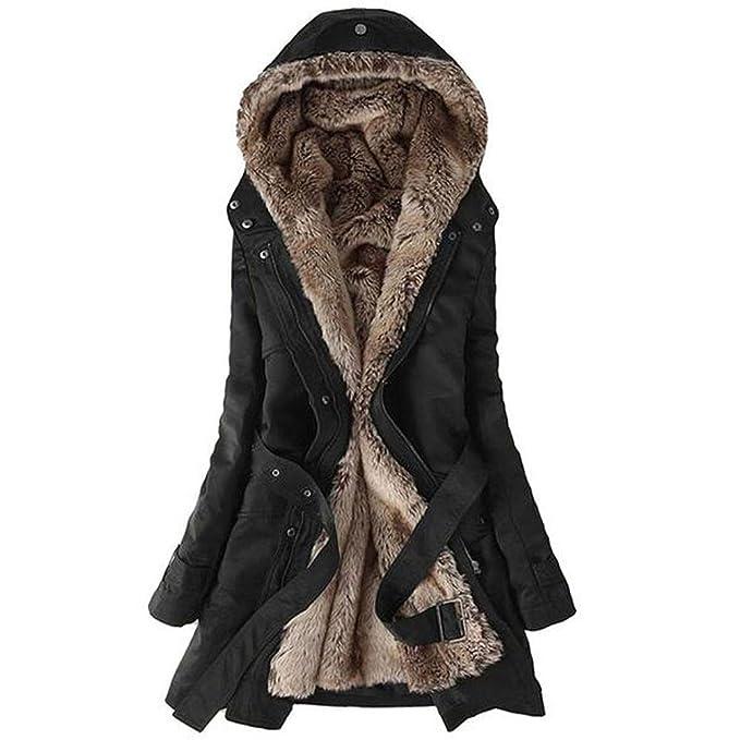 BESTOYARD Women's Cotton Long Hairy Slim Warm Thicken Chill-Proof Jacket  Coat Outwear (Black, Small): Amazon.in: Clothing & Accessories