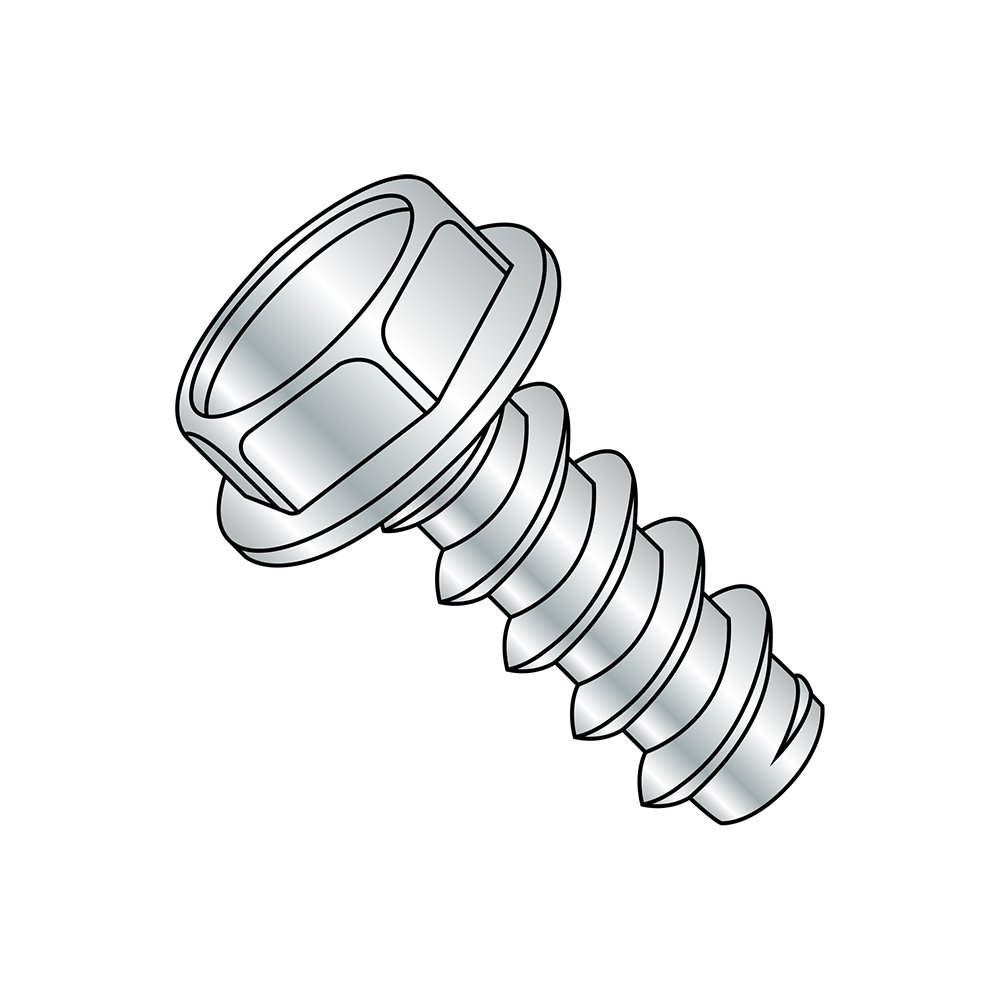 1-1//4 Length Type B Steel Sheet Metal Screw 1-1//4 Length Small Parts 1020BW #10-16 Thread Size Pack of 2000 Pack of 2000 Hex Washer Head Hex Drive Zinc Plated