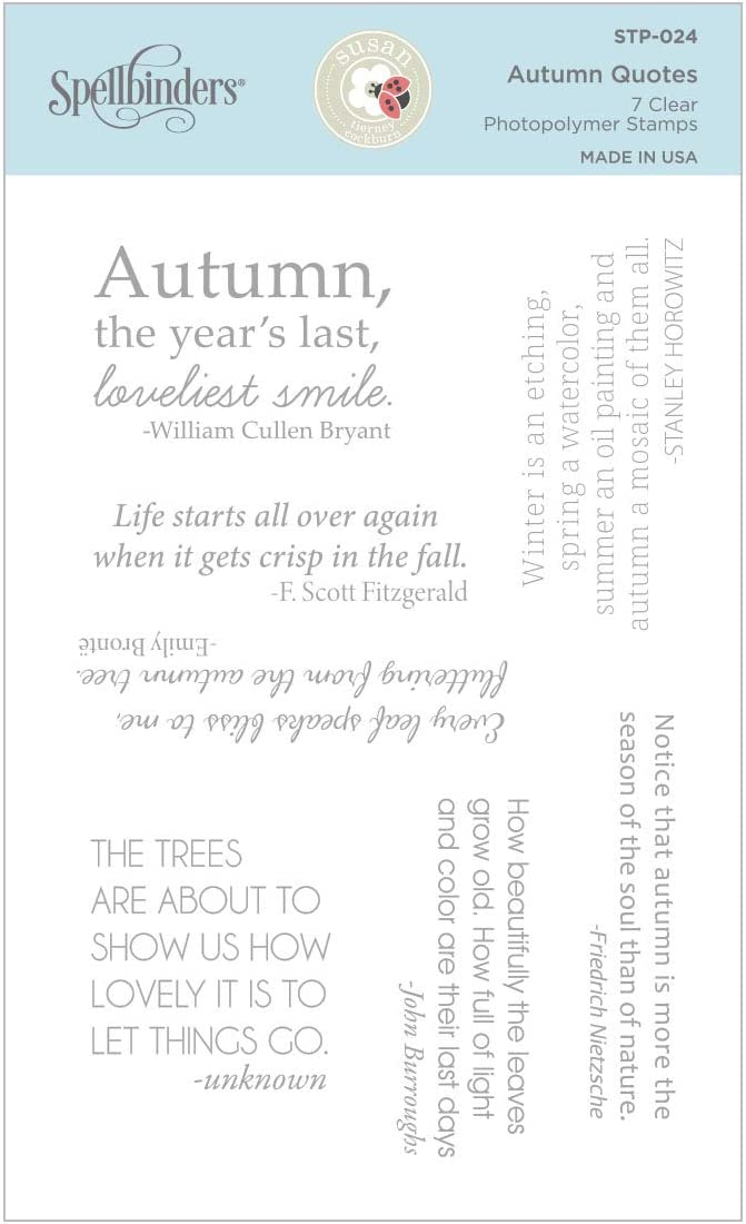 Spellbinders Autumn Quotes by Susan Tierney-Cockburn Clear Stamp Set