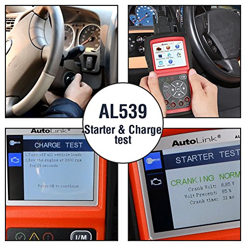Autel AL539 Code Reader Scanner Scan Tool Car Electrical Tester with Full OBD2 Diagnoses and Avometer Function(Upgraded Version of AL519) by Autel (Image #3)