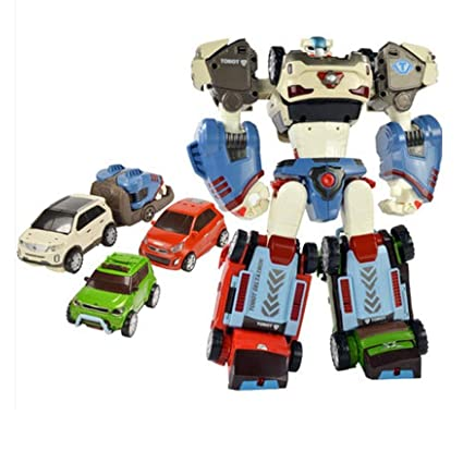 YOUNG TOYS Tobot Deltatron 3 Cars (X+Z+D) Transformer Robot Toy Action  Figure (SorentoR+Soul+Morning)