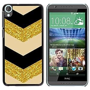 """Pulsar Snap-on Series Teléfono Carcasa Funda Case Caso para HTC Desire 820 , Glitter Chevron Negro Beige Bailarín"""""""