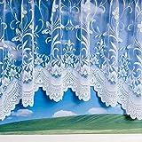 Spring White Jardiniere Net Curtain 100x63