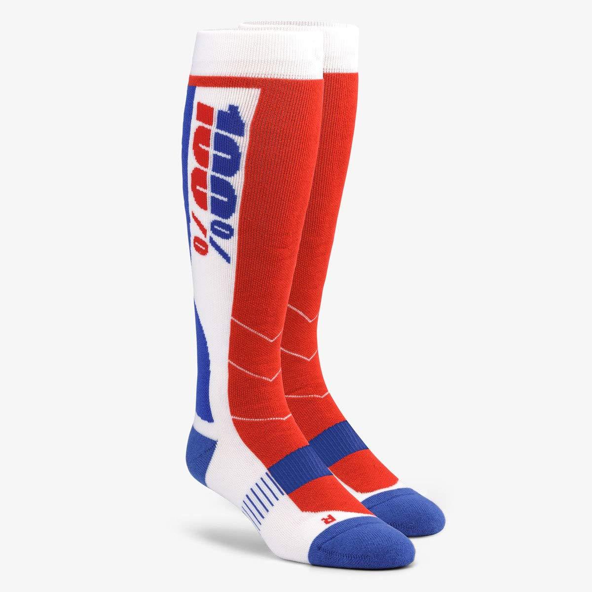 100% Unisex-Adult Hi Side 8'' Mid-Calf Riding Socks (White,Large/X-Large)