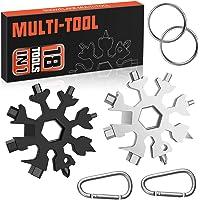 Multi Tools, 2 Pack 18 in 1 Sneeuwvlok Multitools Kerst Kerstdag Papa Mannen Geschenken Vaderdag Geschenken, Cool…