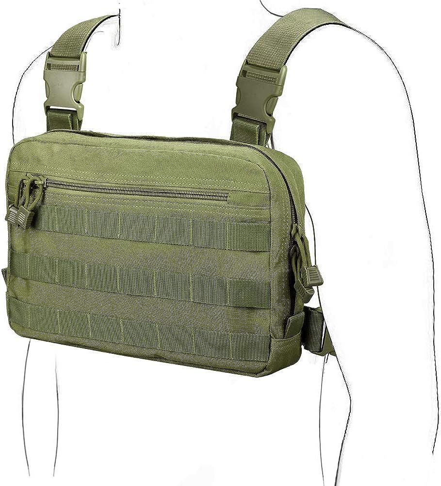Pack de Poitrine Tactique Sac de Veste Molle Sacs Pochette Avant Camouflage Harnais Airsoft Sac /à Dos Tout Usage Pochette de Transport EDC dissimul/ée WYNEX Recon Kit Bag