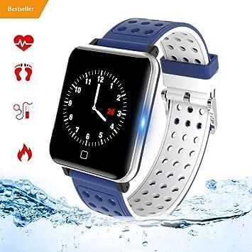 Smart Watch Fitness Tracker Smart Wristband Fitness Watch con frecuencia cardíaca IP67 a Prueba de Agua Compatible con Bluetooth 4.0 o Superior M19-2