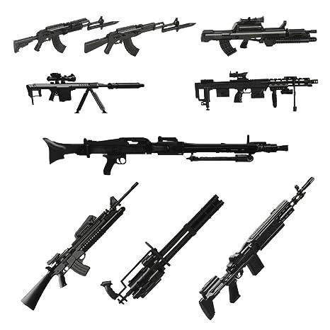 1 6 Scale Rifle Machine Gun Collection Model Diorama Figure 8 Models Ak47 M82a1 M16a4 Etc
