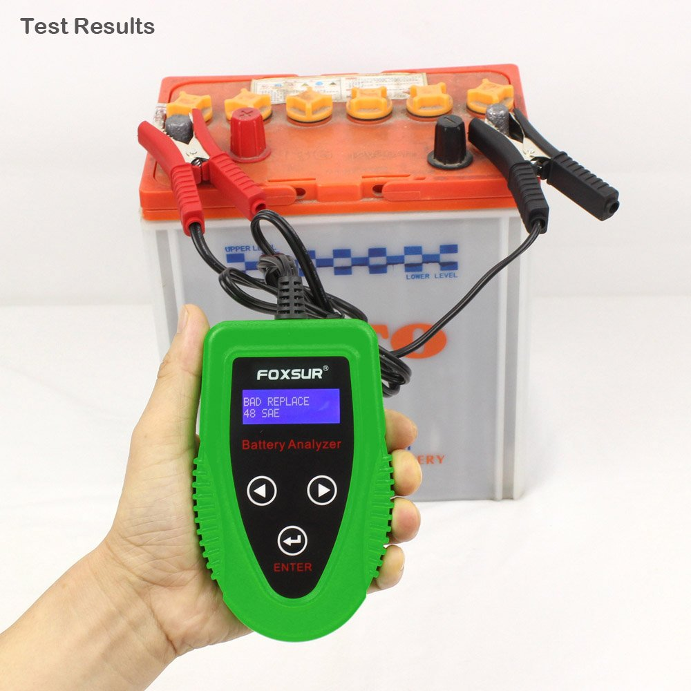 FOXSUR Digital 12V Car Battery Tester, Starting and Charging System Tester and Analyzer Of Battery Life ,IR,Voltage, Resistance and CCA Value For Flood, Gel, AGM, Deep Cycle Battery by FOXSUR (Image #8)
