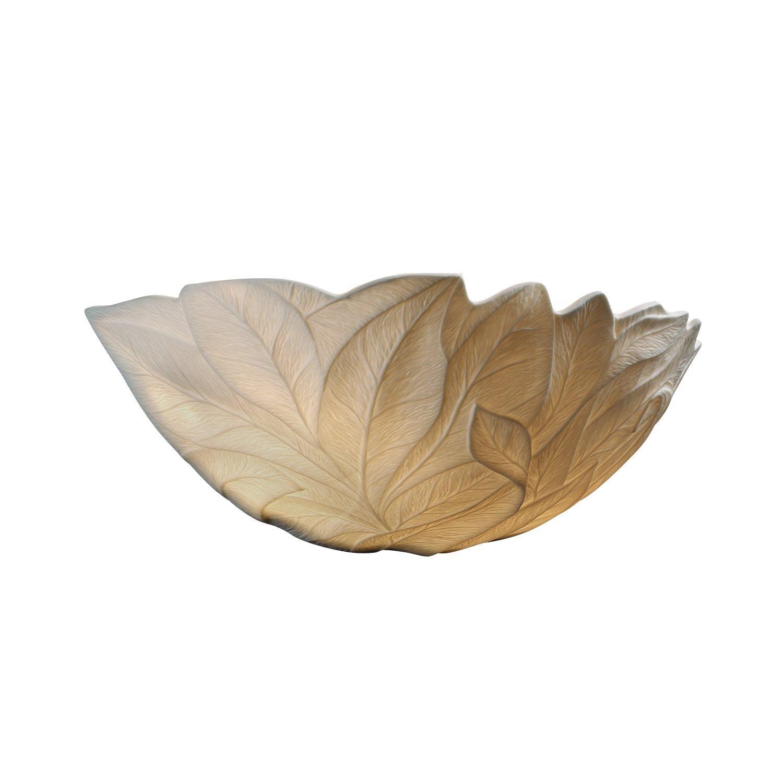 Justice Design Group Limoges 1-Light Wall Sconce - Leaf Translucent Porcelain Shade