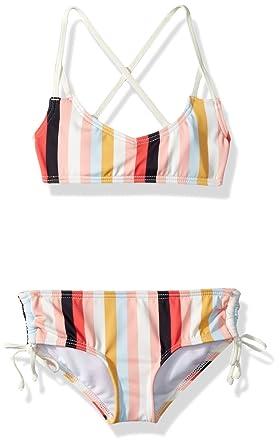fca982913 Amazon.com  Billabong Girls  Come on by Crossback Two Piece Swim Set ...