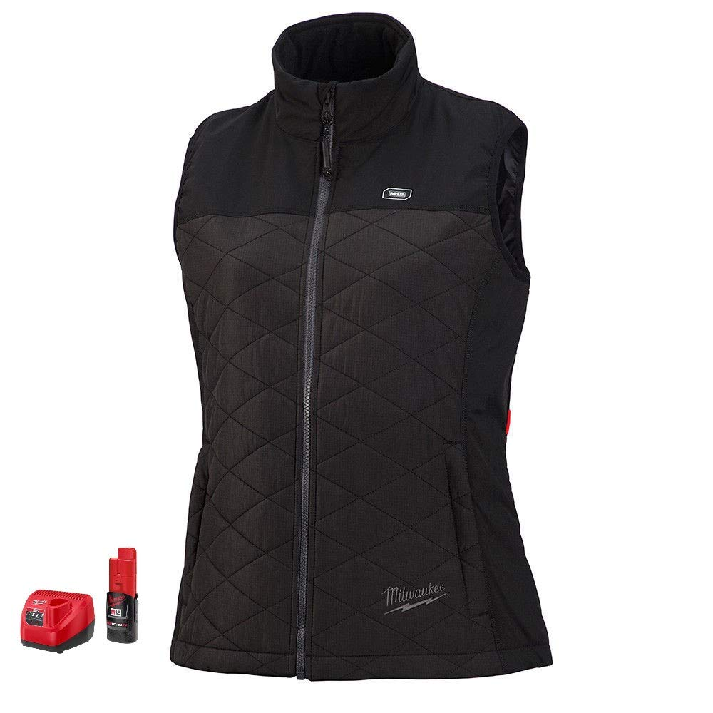 Milwaukee M12 Heated AXIS Vest Lithium-Ion Front and Back Heat Zones - Black (Medium, Womens Vest Kit-Battery & Charger Included)