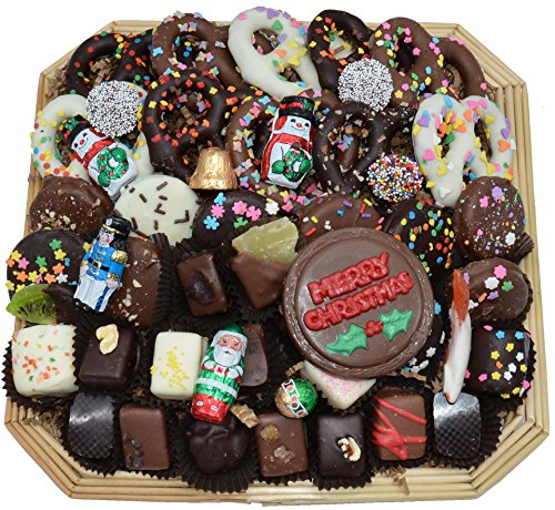 Deluxe Hand-Made Chocolates Christmas Gift Basket (Large) (Corporate Gift Business)