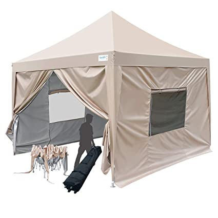 Amazon.com Quictent Upgraded Privacy 6.6x6.6 EZ Pop Up Canopy Tent Small Instant Folding Outdoor Canopy Party Tent with Sides Walls 9.2ft Height-3 Colors ...  sc 1 st  Amazon.com : small pop up tents - afamca.org