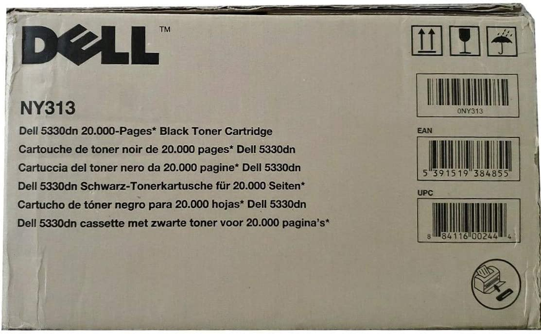 Dell NY313 330-2045 5330DN Toner Cartridge (Black) in Retail Packaging