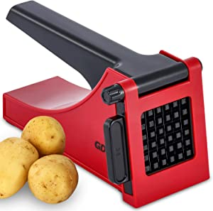 French Fry Cutter, Easy to Clean Potato Fry Cutter for Easy Slicing, Potato Chopper for Fries, Carrots, Cucumbers