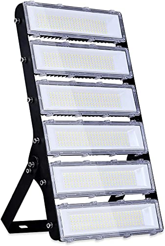 300W LED Flood Light Outdoor, 27000lm 6000K Super Bright Yard Security Lights IP66 Waterproof Outdoor Work Lights Daylight White,OSRAM LED Chips, Adjustable Heads, Great for Garden,Street, Parking Lot