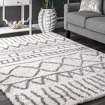Amazon Com Rivet Diamond Trellis Tassel Wool Rug 5 X 8