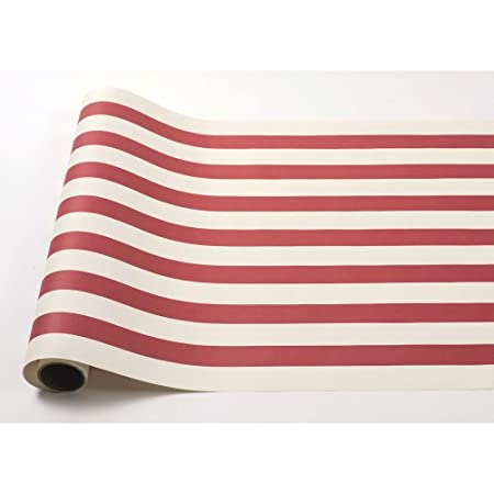 Kitchen Papers Camino de Mesa de Papel Rojo Rayas (25 ft American ...