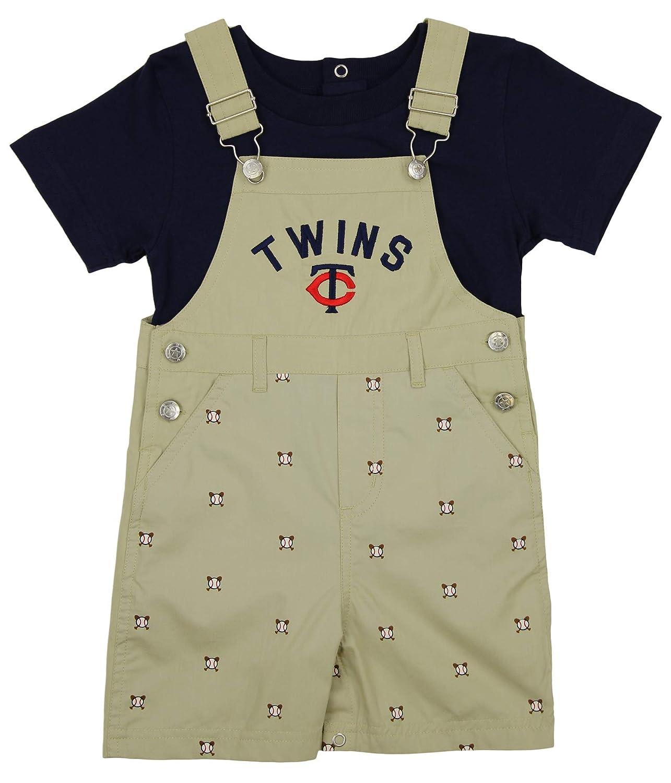 MLB Minnesota Twins幼児用カーキOverall Set with Tシャツ 2T  B00VAMFNIQ