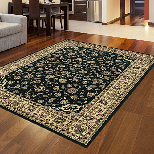 4'11' Radici Rugs (Radici 953 CASTELLO Rugs, 3-Feet 3 by 4-Feet 11-Feet, Black)