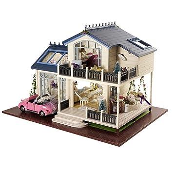 Wonderful Puppenhaus   Greencolourful Handgemachte DIY Kabine Puppenhaus Miniatur  Haus Möbel Kits, Romantische Villa