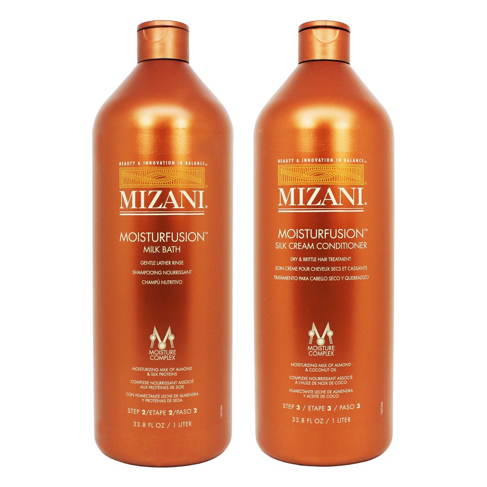 Amazon.com : Mizani Moisturfusion Milk Bath + Silk Cream Conditioner 33.8oz