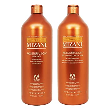 "Mizani Moisturfusion Milk Bath + Silk Cream Conditioner 33.8oz "" ..."