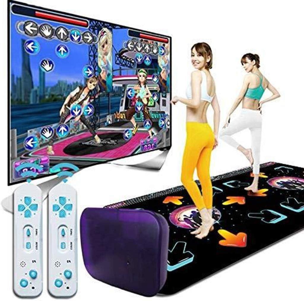 Nfudishpu Doble colchoneta Baile Consola Juegos HD inalámbrica 3D, Ejercicio pérdipeso Yoga, Tarjeta SD Gran Capacidad, Adecuado Adultos/niños: Amazon.es: Deportes y aire libre