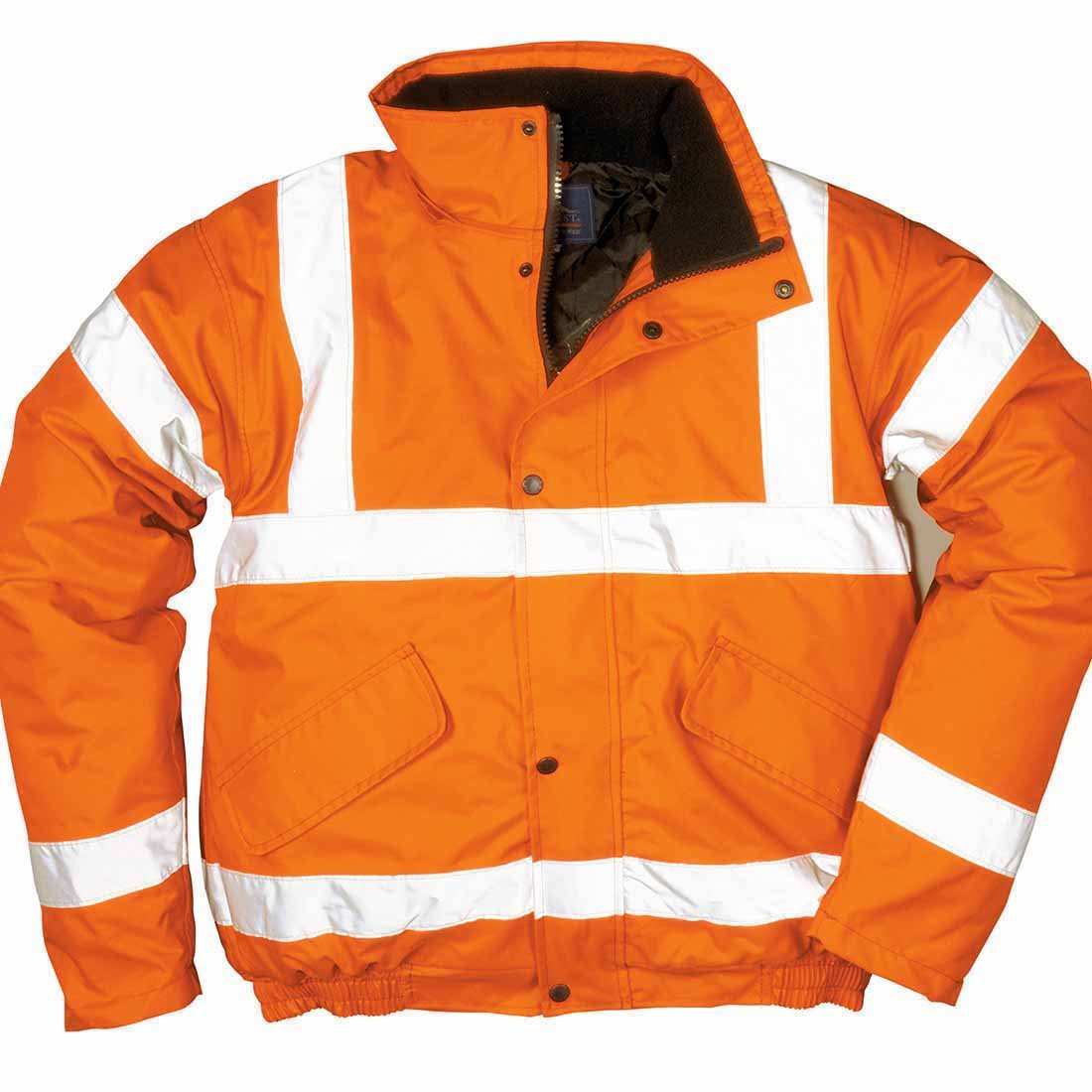 Portwest S463RERXXXL Hi-Vis Bomber Jacket, Regular, Size 3X-Large, Red Portwest Clothing Ltd
