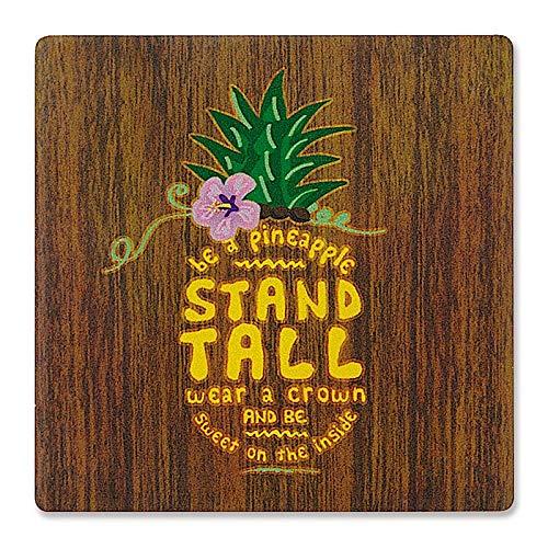 - Water Absorbent Individual Ceramic Hawaiian Coaster - Aloha Be a Pineapple