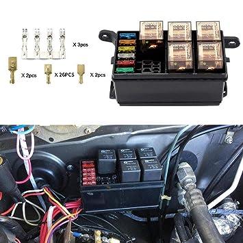 fuse box relays fidgetkute 6 way 6 slot fuse box relay with 6 relays fuse holder fuse box restaurant oakland fidgetkute 6 way 6 slot fuse box relay