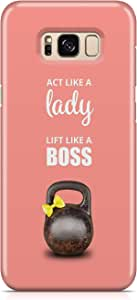 Covery Cases Act Like A Boss Back Cover For Samsung Galaxy S8 - Pink