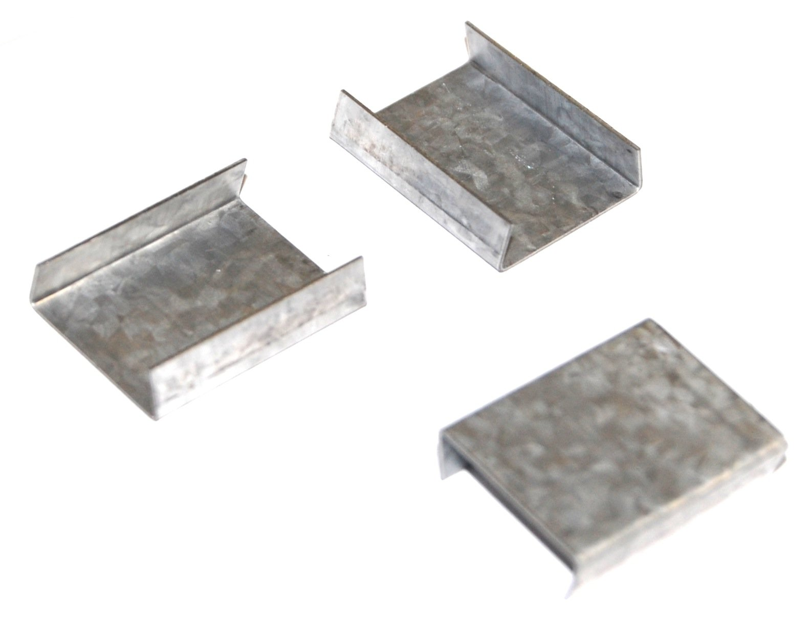Steel Strapping Seals - 3/4'' Snap-On Open Seals (2500/Case) - S34S02 by Miller Supply Inc