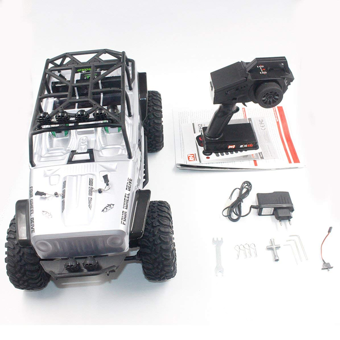 Corneliaa-UK Remo 1073-SJ 1 10 2.4GHz 550 Brushed RC Car Off-road Truck Rock Crawler Toys
