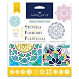 Faber-Castell Mixed Media Paper Stencils - 103 Collection - 13 Reusable Mandala Stencils