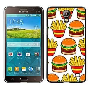 iKiki Tech / Estuche rígido - Francés comida rápida de basura - Samsung Galaxy Mega 2