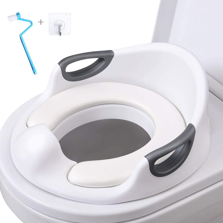 AiKiddo Asiento Inodoro para Niños, Reductor de WC para Bebé, Reductor Infantil como Protector, Orinal de Bebé con Compacto y Portátil para Viajes (blanco)