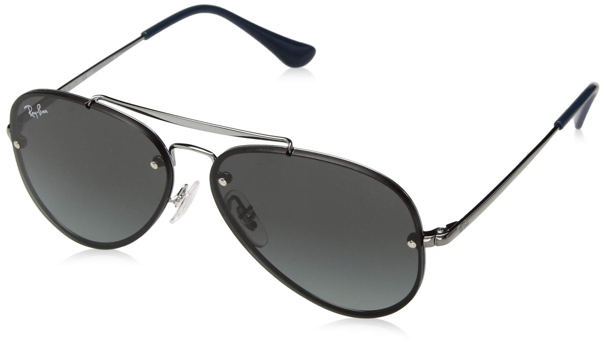 Ray-Ban Junior RJ9548SN Blaze Aviator Kids Sunglasses, Gunmetal/Gray Gradient, 54 mm