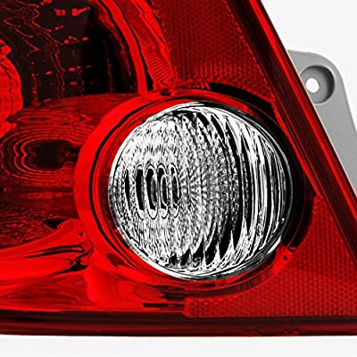 For Chevy Cobalt Pontiac G5 Pursuit 4Dr Sedan Red Clear Passenger Right Side Rear Tail Light Repalcement: Automotive