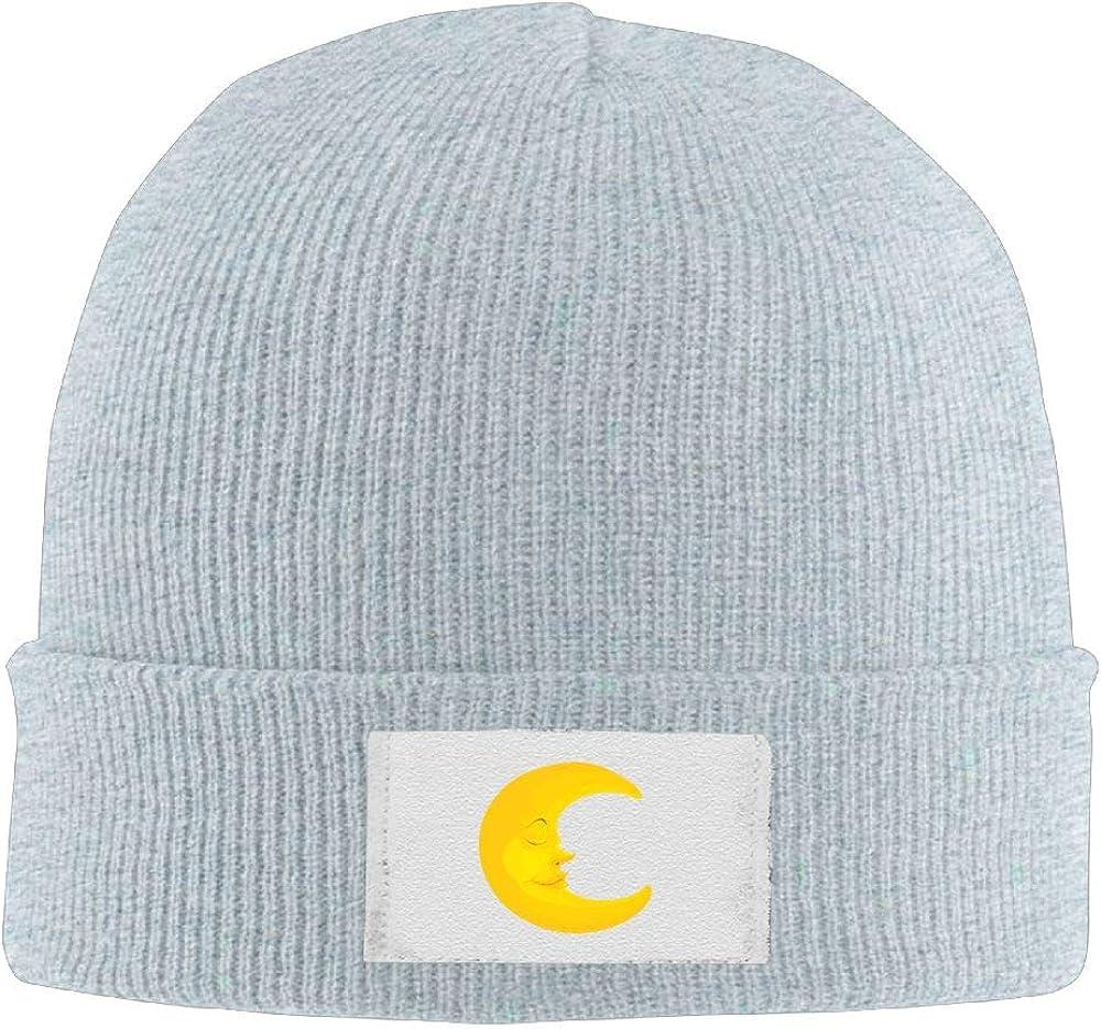 Men Women Sleeping Moon Skull Hat Beanie Cap Winter Knit Hat Cap