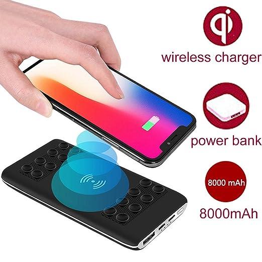 amazon com wireless power bank 8000mah fast charging power bank rh amazon com