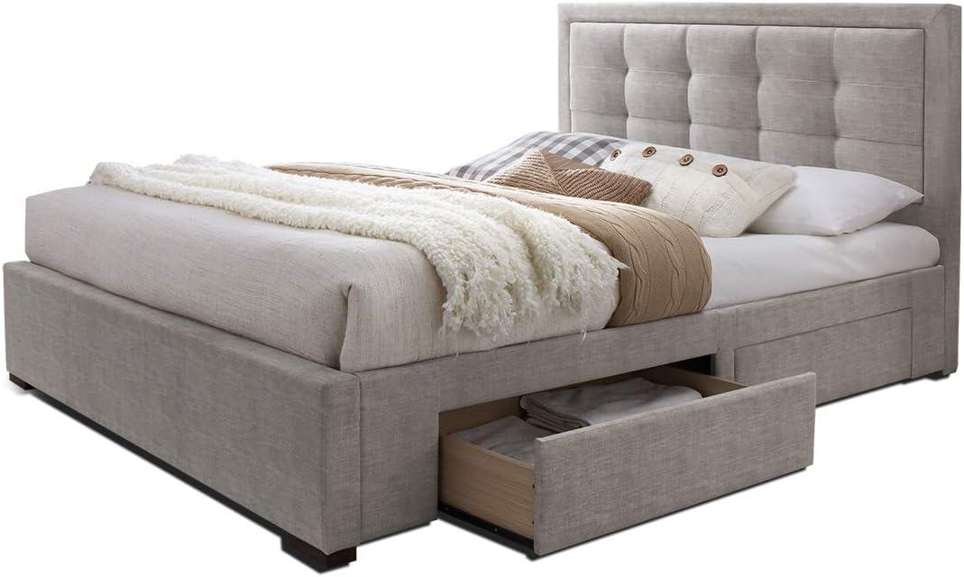 Fjord - Juego de cama doble de tejido gris beige topo claro + ...