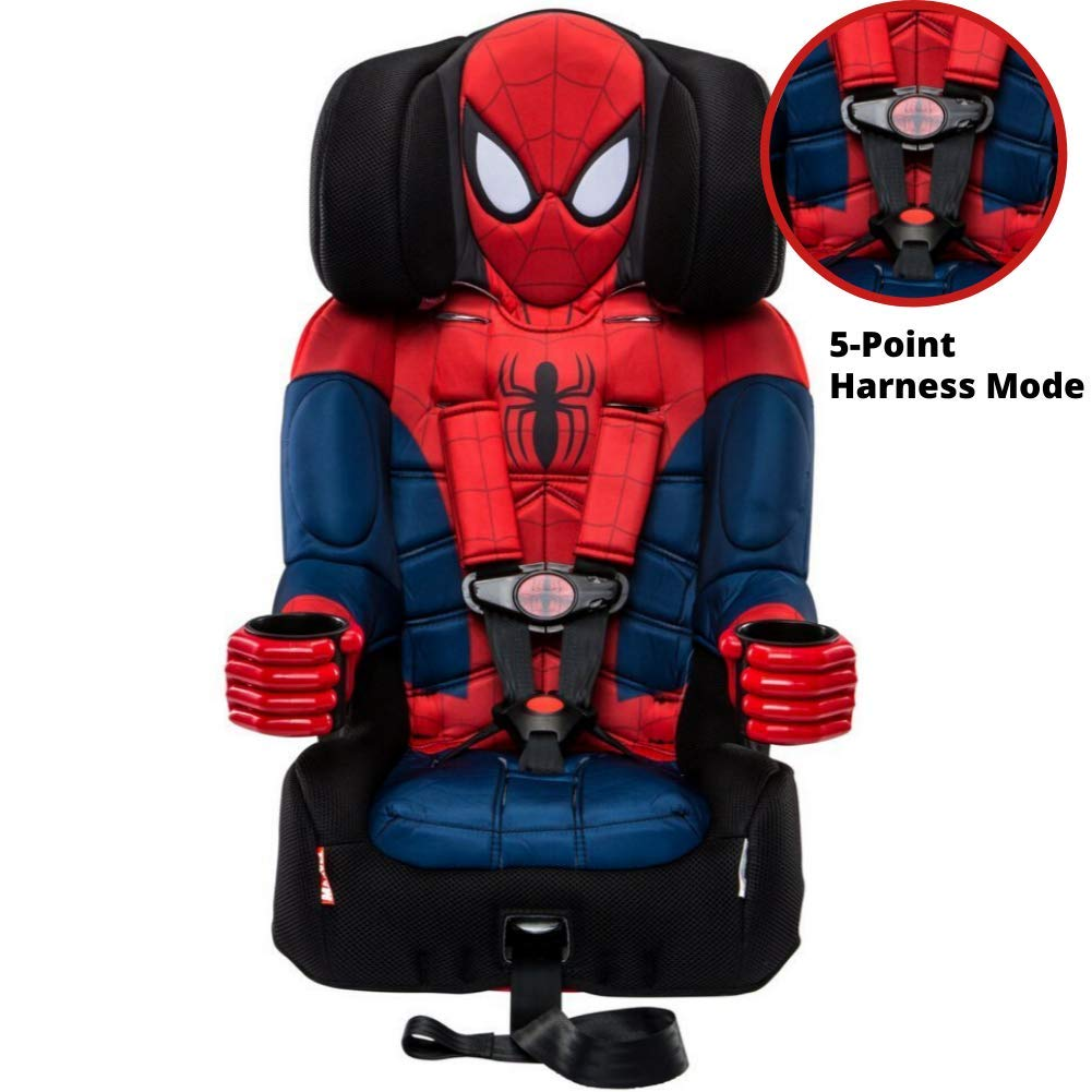 KidsEmbrace Spider-Man Booster Car Seat Marvel Youth Backless Seat 480... Red