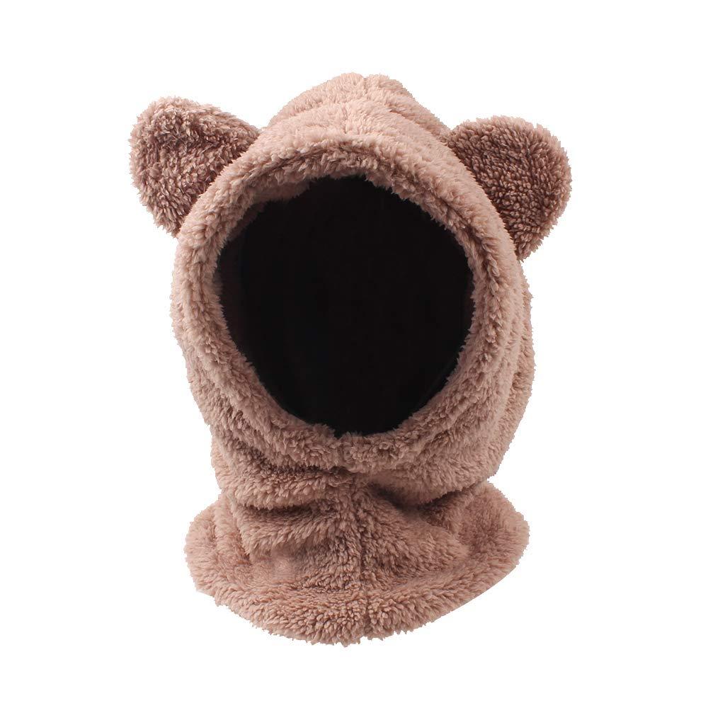 JANGANNSA Baby Girls Winter Hat Boys Warm Scarf Hat Kids Thick Earflap Hood Cap with Ear 6M-4T